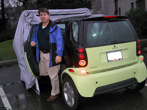 Smart Car Cover opening door even whiile in the bike barn