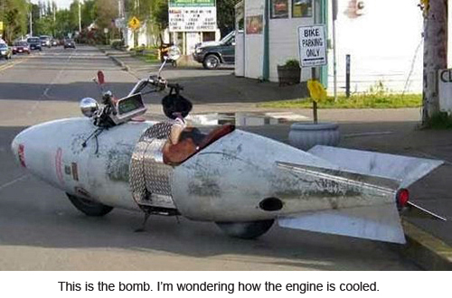 This is a bomb. I am wondering how the engine is cooled.